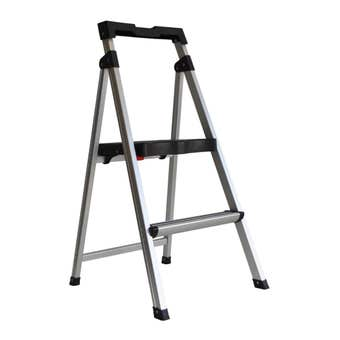 Werner 2 Step Aluminium Ladder With Tray 100kg Domestic