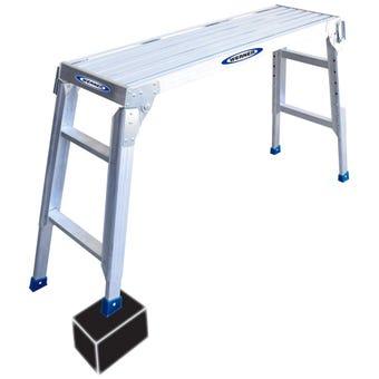 Werner Aluminium Adjustable Work Platform 120kg Industrial