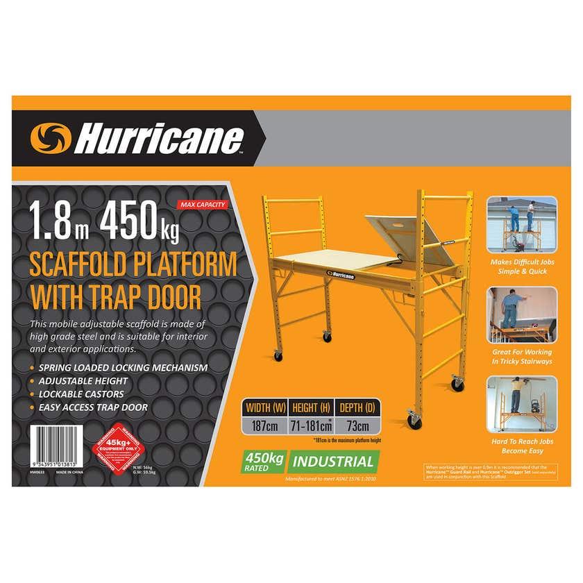 Hurricane 1.8m Scaffold Platform with Trap Door 450kg Industrial