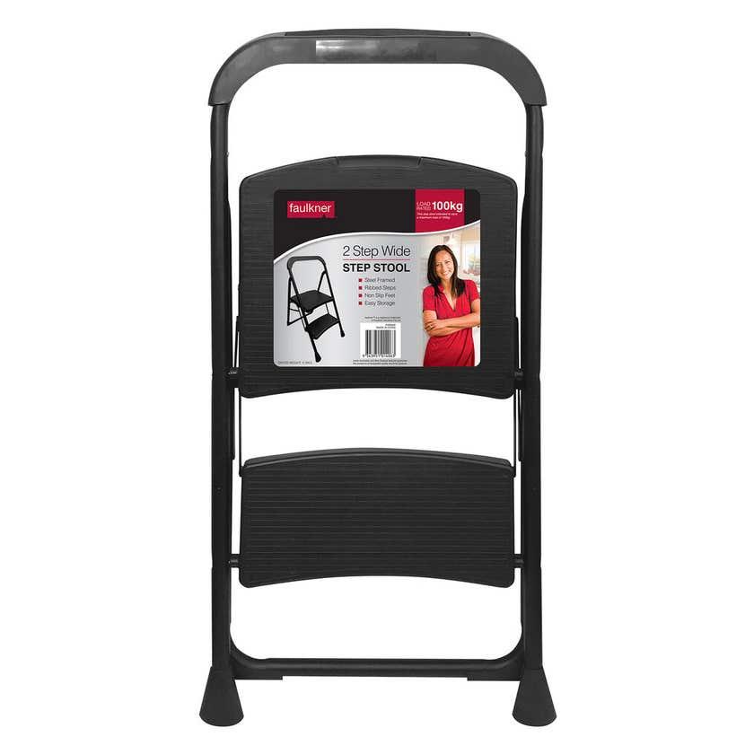 Faulkner™ 2 Step Wide Ladder 100kg Domestic