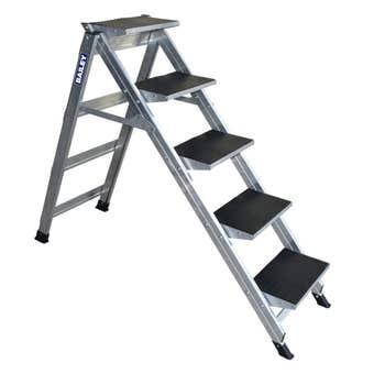 Bailey Stairway 5 Step Ladder 150kg Industrial