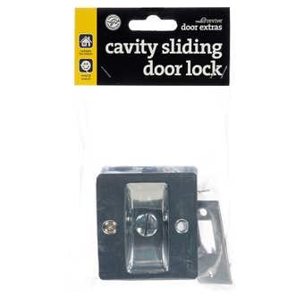 Trio Cavity Sliding Door Lock Chrome Plated