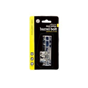 Trio Barrel Bolt Chrome Plated 25 x 75mm - 1 Pack