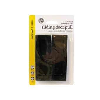 Trio Square Sliding Door Pull Black 120 x 40mm