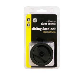 Trio Sliding Door Lock Entrance Set Black
