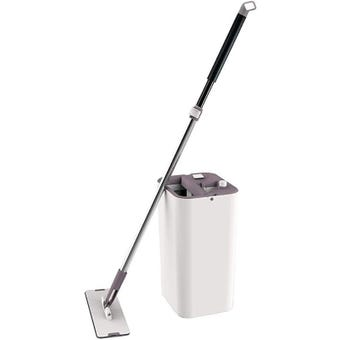 Hills Microfibre Squeeze Flat Mop with Bucket