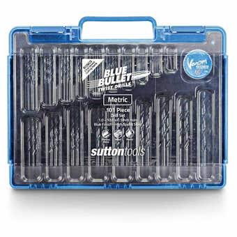 Sutton Tools Blue Bullet Jobber Drill Bit Set 1.0 - 10 x 0.5mm - 101 Piece