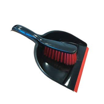 Buy Right Dustpan and Brush Set Red and Black