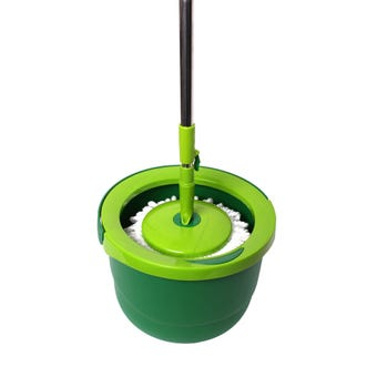 Sabco Compact Spin Bucket with Mop Set