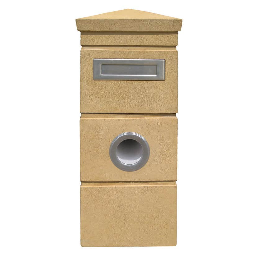 Outdoor Inspirations Rockbank Letterbox Sand