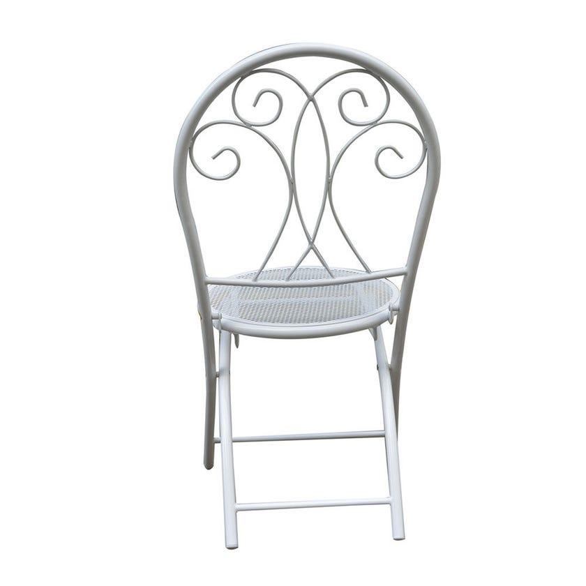 Chloe 2 Seater Decorative Café Setting White