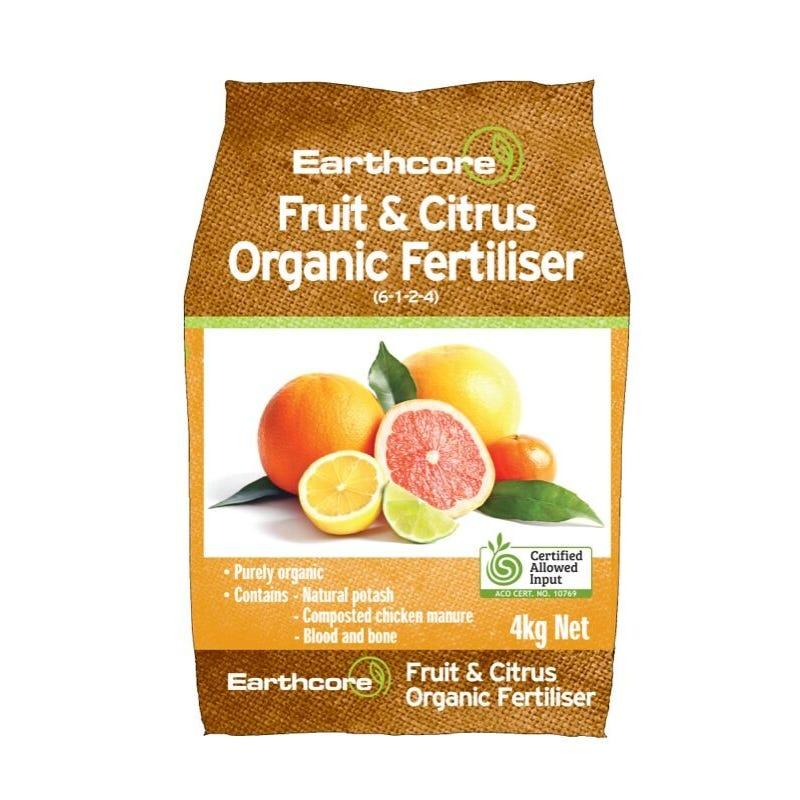 Earthcore Organic Fertiliser Fruit and Citrus 4kg