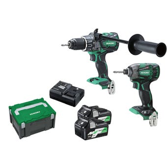 HiKOKI 36V Brushless Multi Volt Combo Kit - 2 Piece KC36DBDL(HRZ)