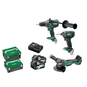 HiKOKI 36V Brushless Multi Volt Combo Kit - 3 Piece KC36DDBL(HRZ)