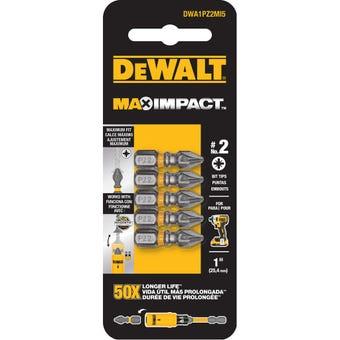 DeWALT Max Impact Drill Bit PZ2 25mm - 5 Pack