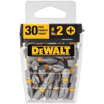 DeWALT Max Impact Drill Bit PH2 25mm - 30 Pack