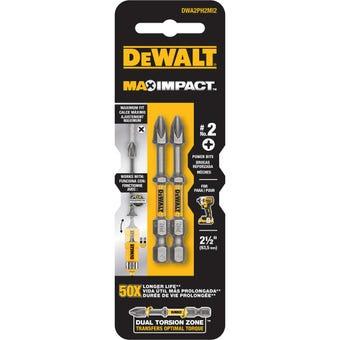 DeWALT Max Power Impact Drill Bit PH2 63.5mm - 2 Pack