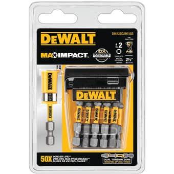 DeWALT Max Power Impact #2 Square Bit 63.5mm - 15 Pack