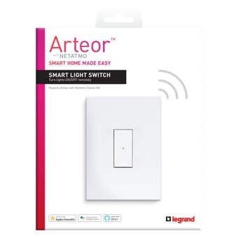 Legrand Arteor Smart Wireless Light Switch 1 Gang Vertical