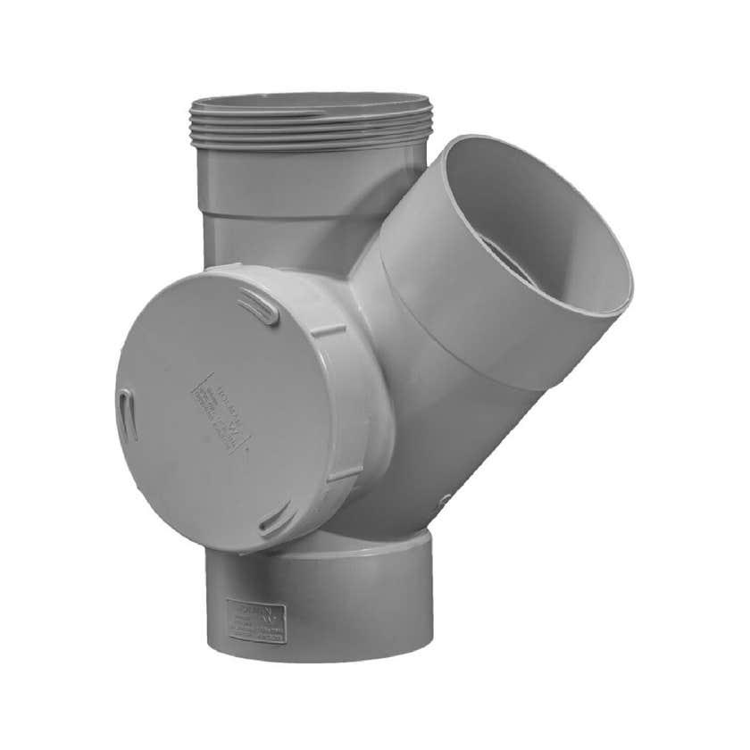 Holman Junction PVC DWV S/A R/H 100mm 45 Deg