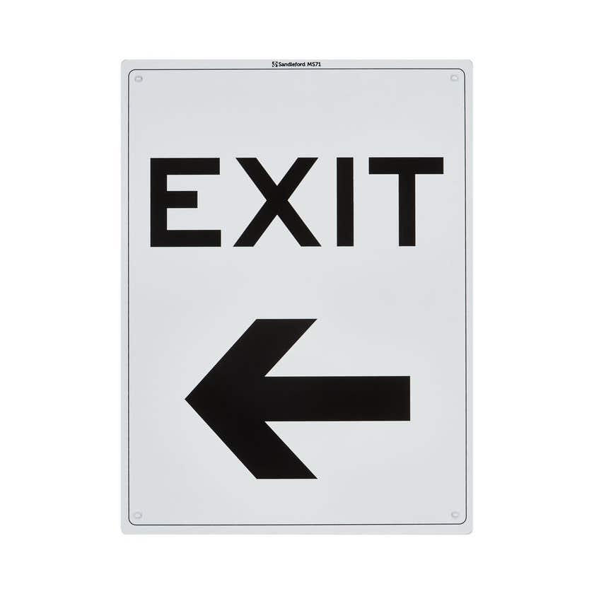 Sandleford Safety Sign Exit Left 300 x 225mm