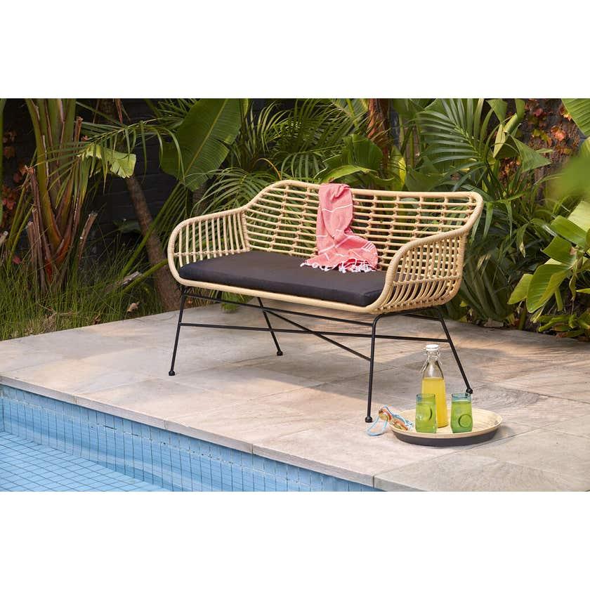 Cayman 2 Seater Wicker Bench