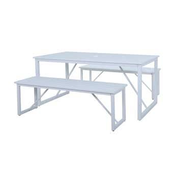 Haiti 4 Seater Steel Bench Setting