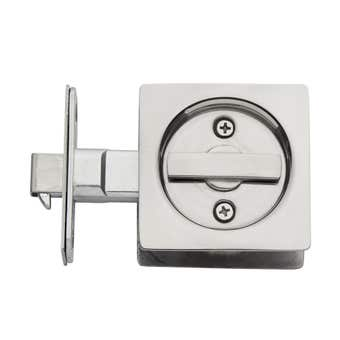 Delf Cavity Slider Door Lock Square Privacy Polished Stainless Steel