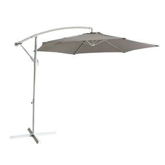 Steel Cantilever Umbrella Taupe 2.85m