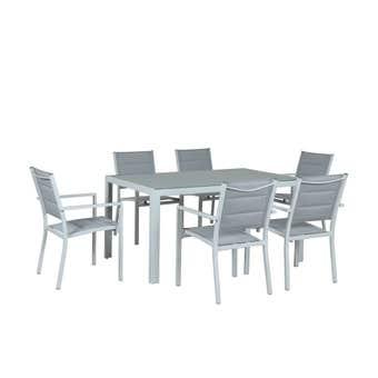 Alexandra 6 Seater Aluminium Dining Setting