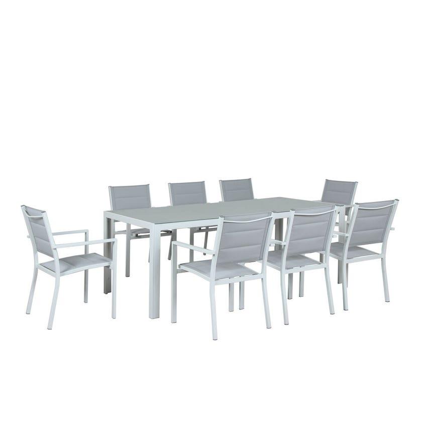 Alexandra 8 Seater Aluminium Dining Setting