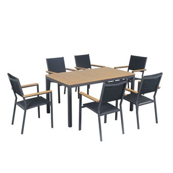 Brooklyn 6 Seater Aluminium Dining Setting