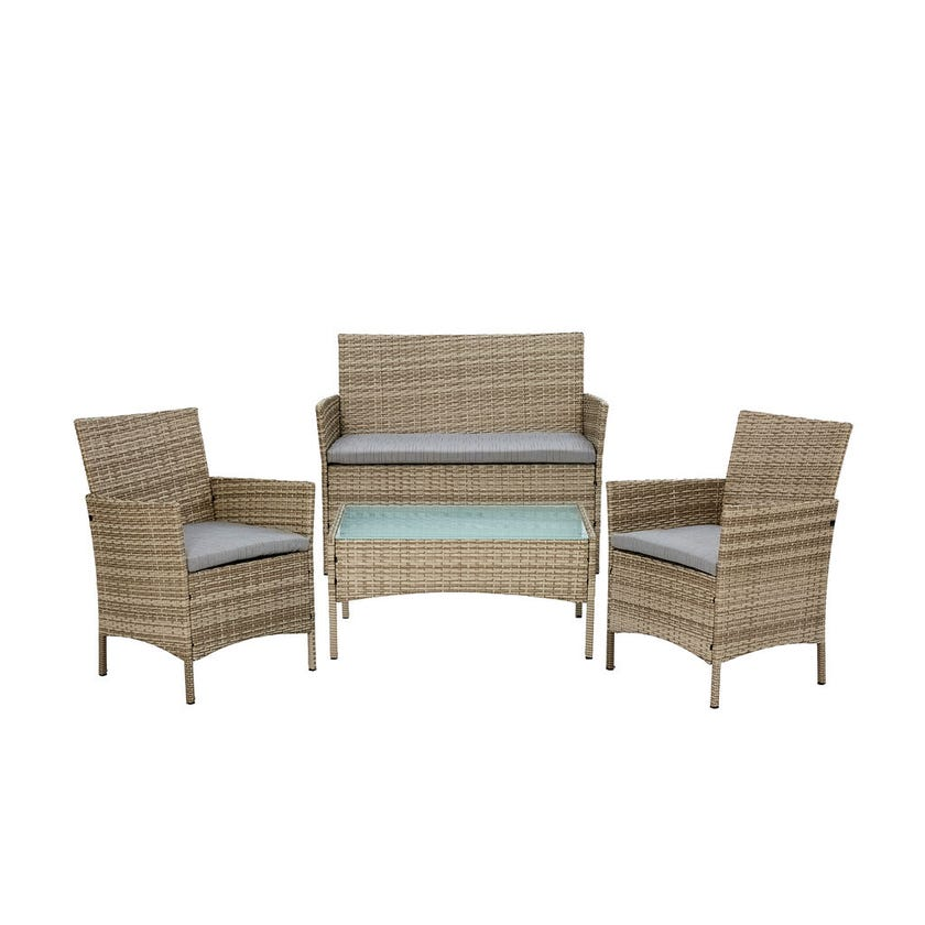 Yorkshire 4 Seater Wicker Lounge Setting