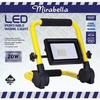 Mirabella Portable LED Work Light 20W