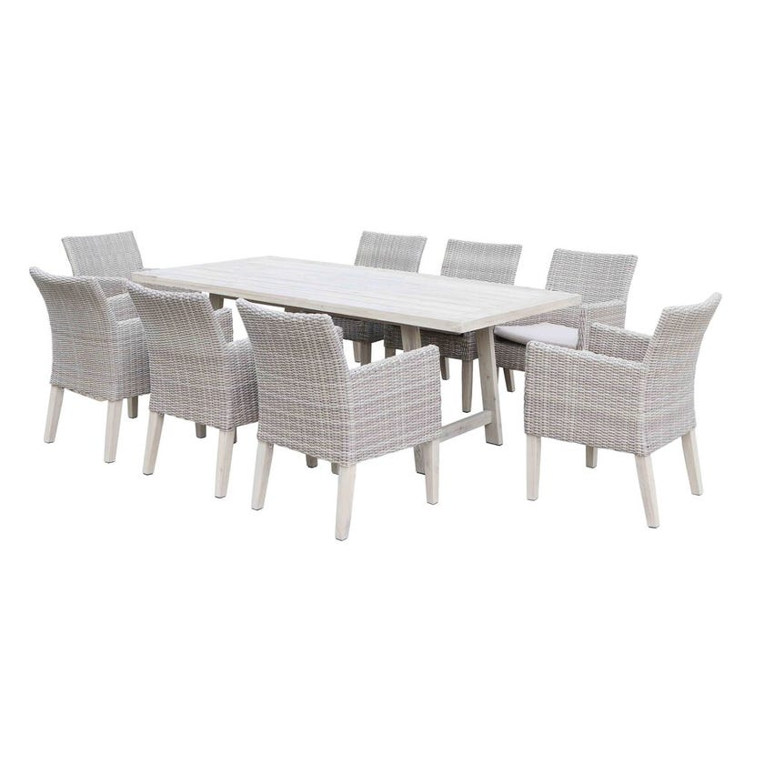 Aruba 8 Seater Wicker Dining Setting