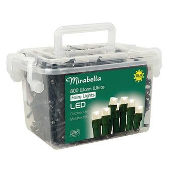 Mirabella Christmas Fairy Light LED Solar Warm White 800 Pack