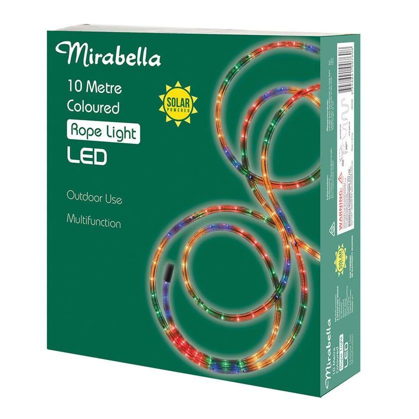Mirabella Christmas Rope Light Solar Multi Colour 10m