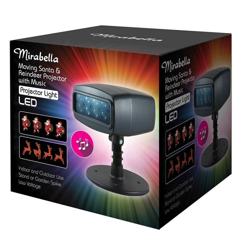 Mirabella Christmas Projector Moving LED with Music