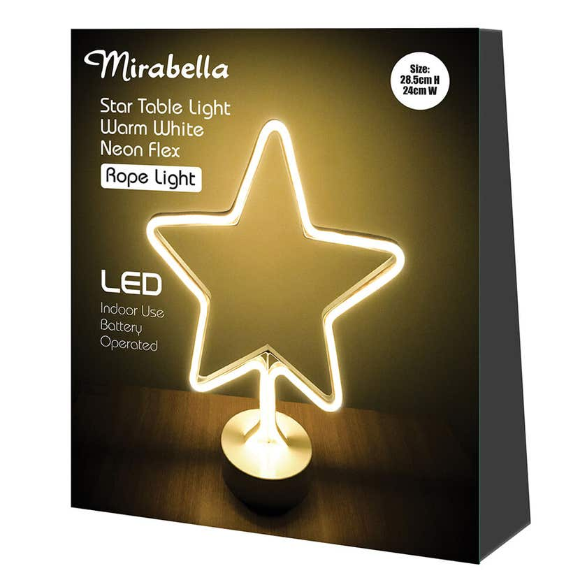 Mirabella Neon Star LED Flex Light 30cm