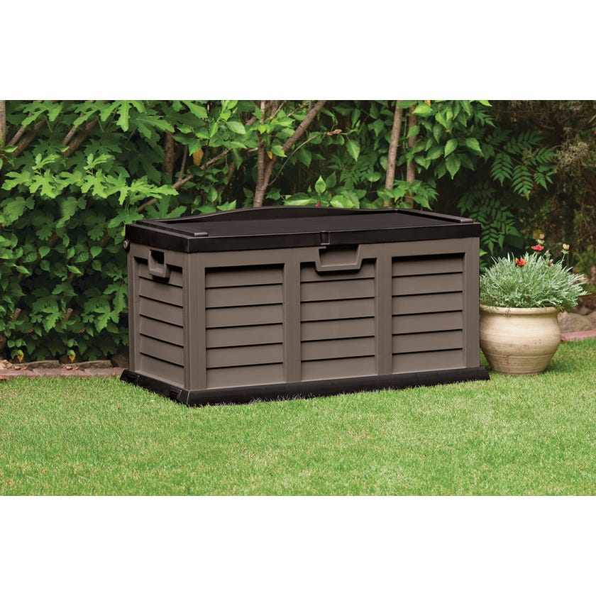 Outdoor Wheeled Storage Box with Seat 305L