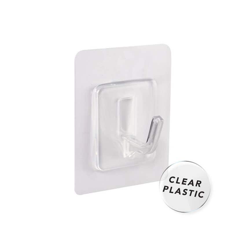 Naleon Peel 'N' Stick Clear Hook - 4 Pack