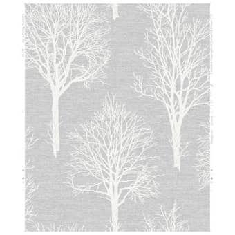 Boutique Landscape Wallpaper Dove Grey 10m x 52cm