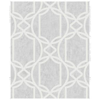 Boutique Wallpaper Decorative Geo Soft Grey 10m x 520mm