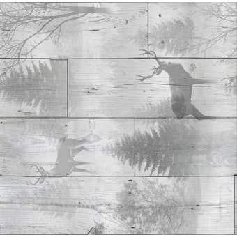 Superfresco Easy Wallpaper Highland Plank Grey 10m x 520mm