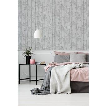 Superfresco Easy Wallpaper Branches Grey 10m x 520mm