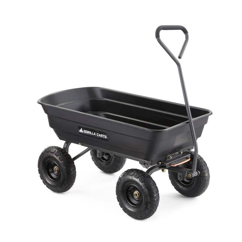 Gorilla Carts Poly Garden Cart 270kg