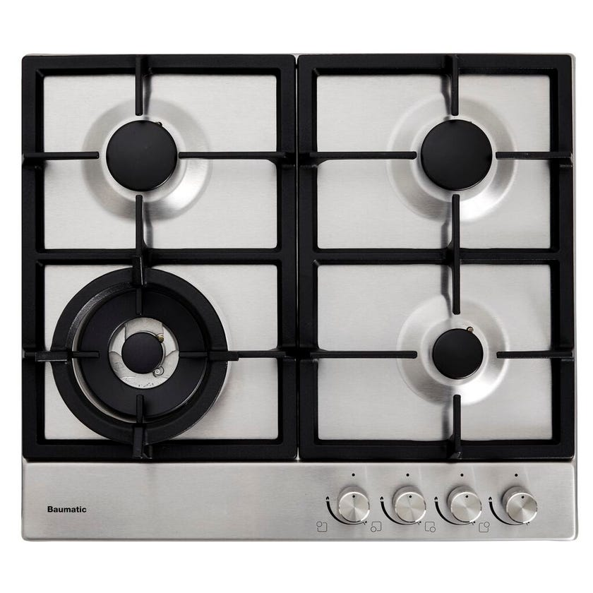 Baumatic Gas Cooktop Stainless Steel 600mm