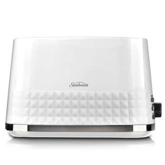 Sunbeam Diamond Toaster White 2 Slice