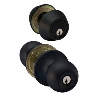 Buy Right Entry Handle Knob Combo Black