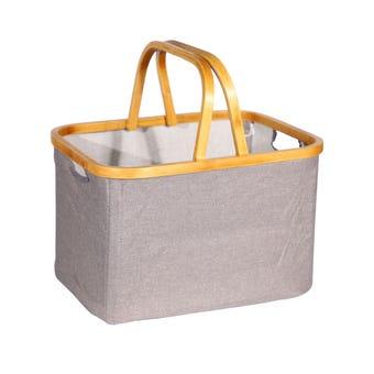 Bamboo Decorative Folding Basket 35L